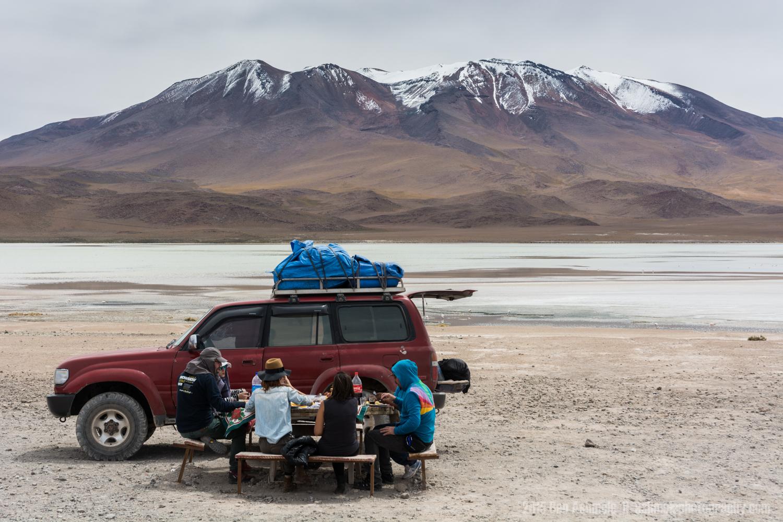 A Scenic Lunch, Lake Chiar Kota, Bolivian Highlands