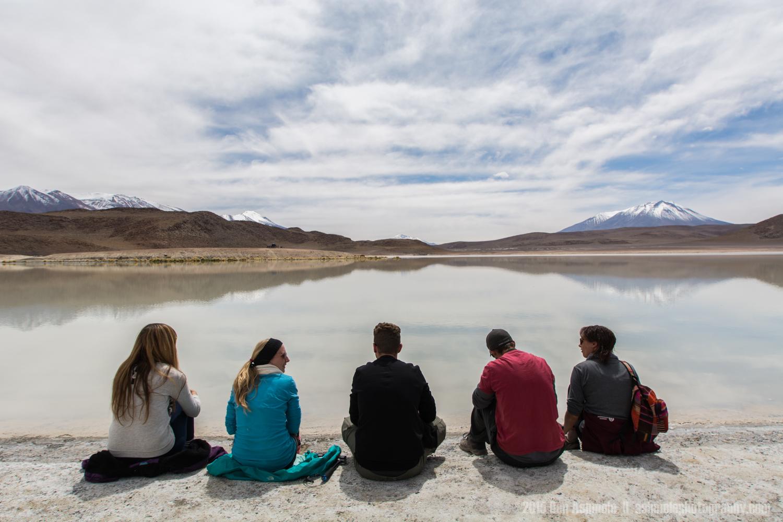 Sitting By Lake Chiar Kota, Bolivian Highlands