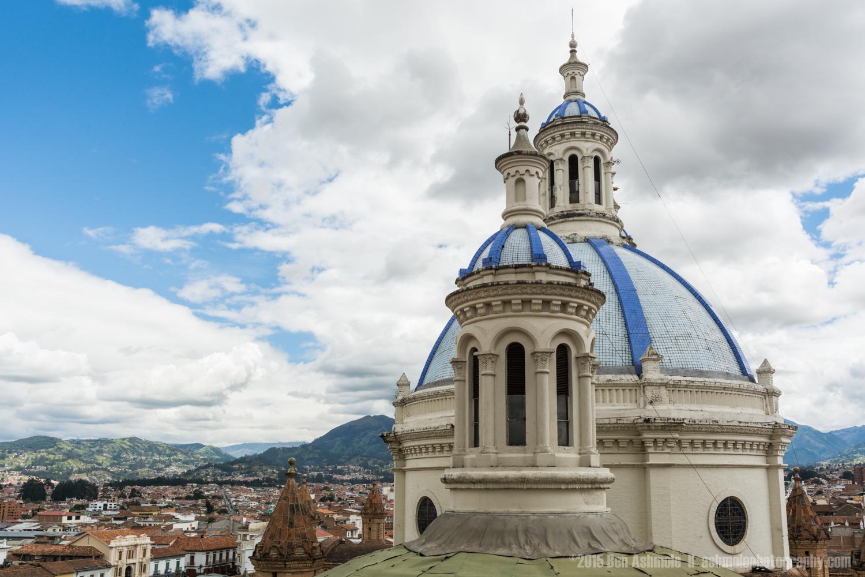 Towers Of Catedral De La Inmaculada Conception 2, Cuenca, Ecuado