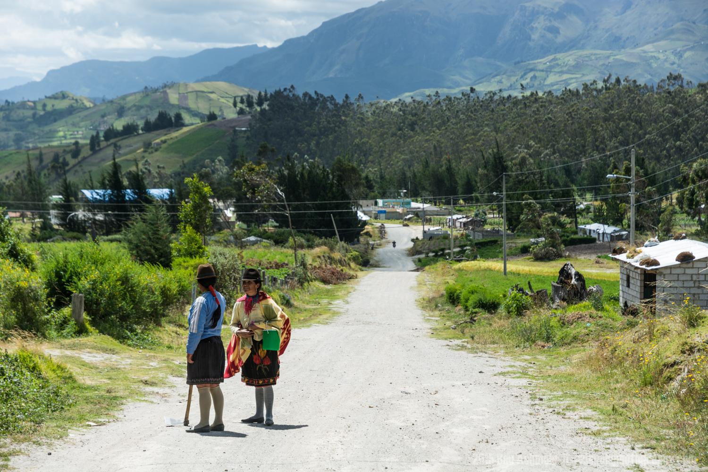 Morning Chat, Quilotoa Loop, Ecuador