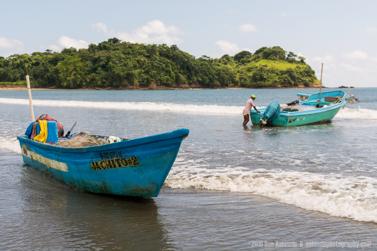 Pushing The Boat Out, Mompiche, Ecuador
