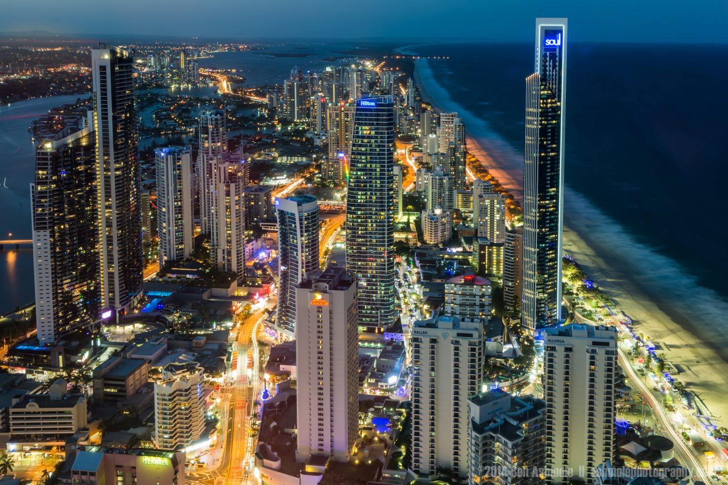 Surfers Paradise From Above, Gold Coast, QLD, Australia