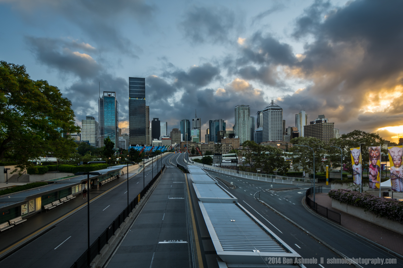 Sunrise From South Bank, Brisbane, QLD, Australia