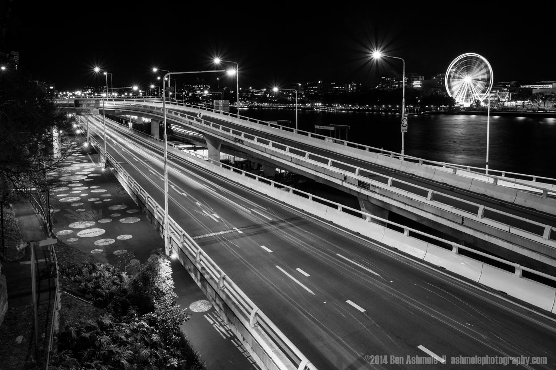 Night Time Highway, Brisbane, Queensland, Australia