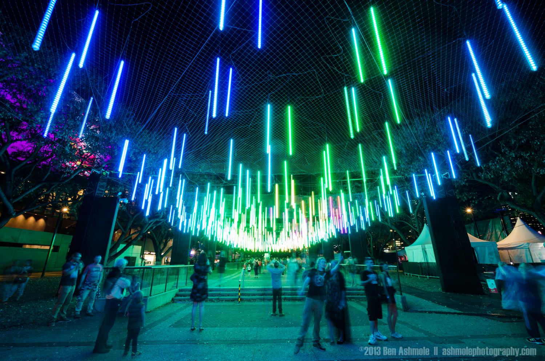 Brisbane Light Garden in Green And Red, Australia