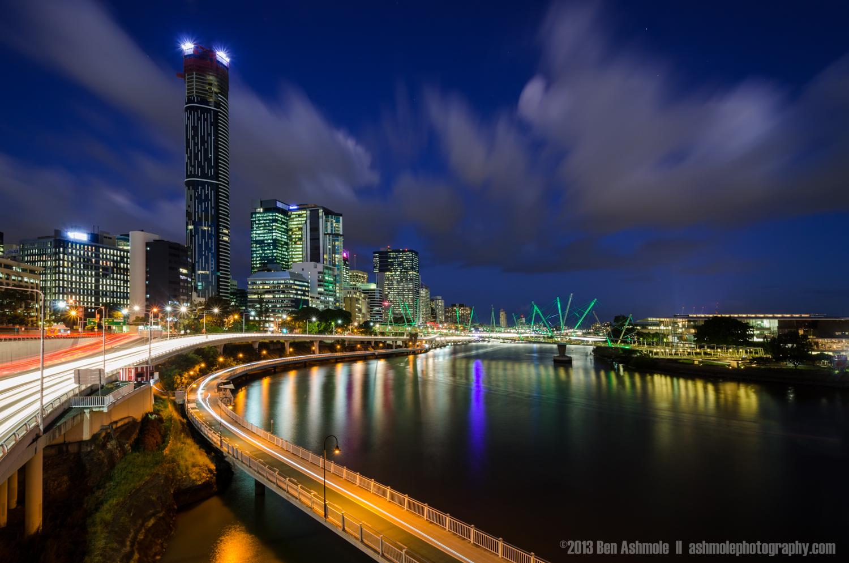 Blue Hour By the River, Brisbane, Queensland, Australia