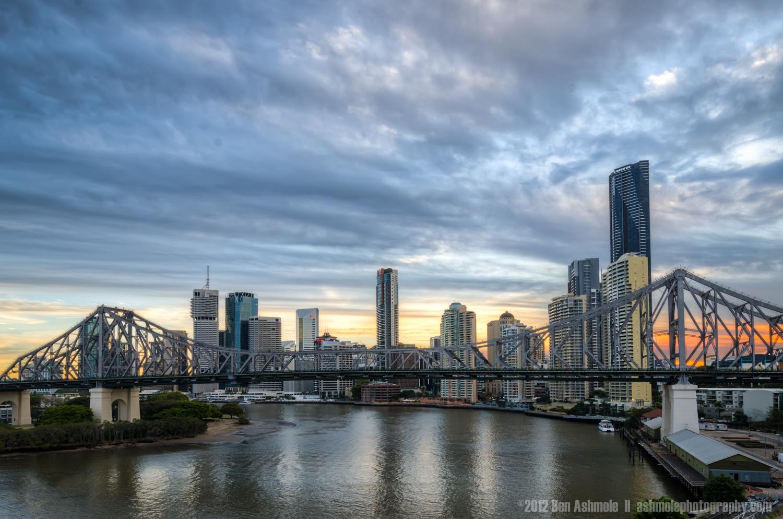 Moody City Sunset, Brisbane, Queensland, Australia