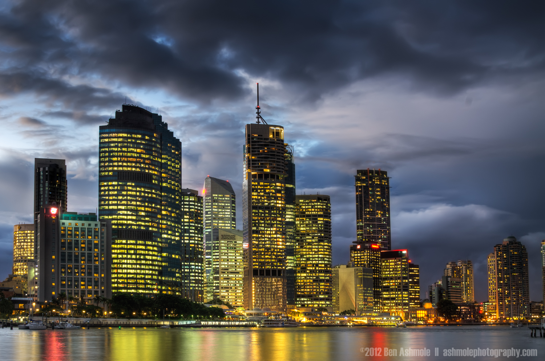 Stormy Night in the City, Brisbane, Australia, Ben Ashmole
