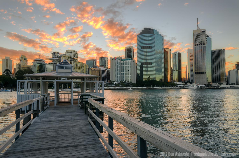River Jetty at Sunset, Brisbane, Australia, Ben Ashmole