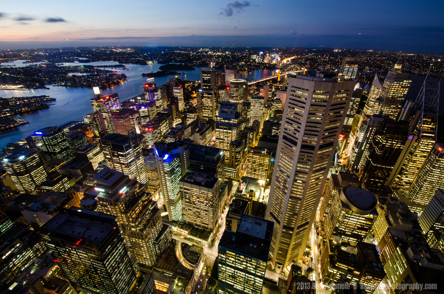 City Dusk From Above, Sydney, New South Wales, Australia