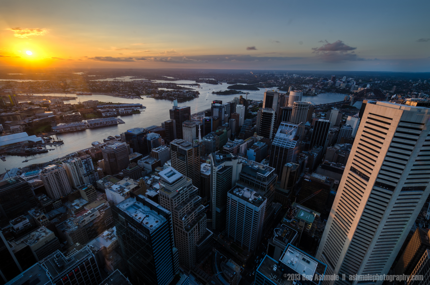 Sunset Over The City, Sydney, New South Wales, Australia
