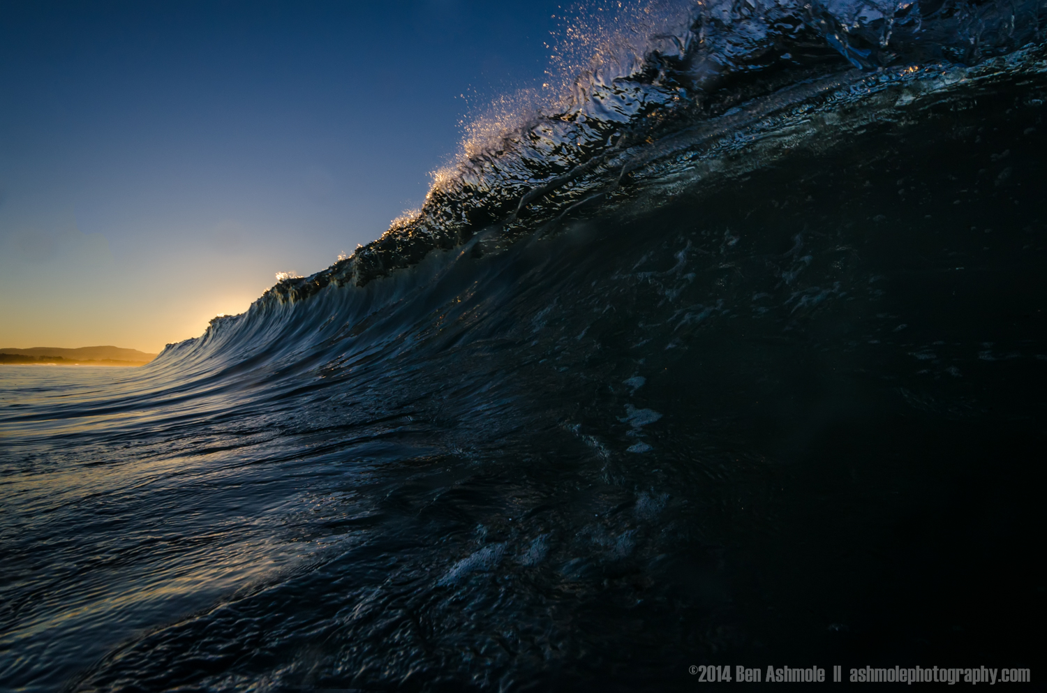Shorebreak At Sunset, Byron Bay, Australia
