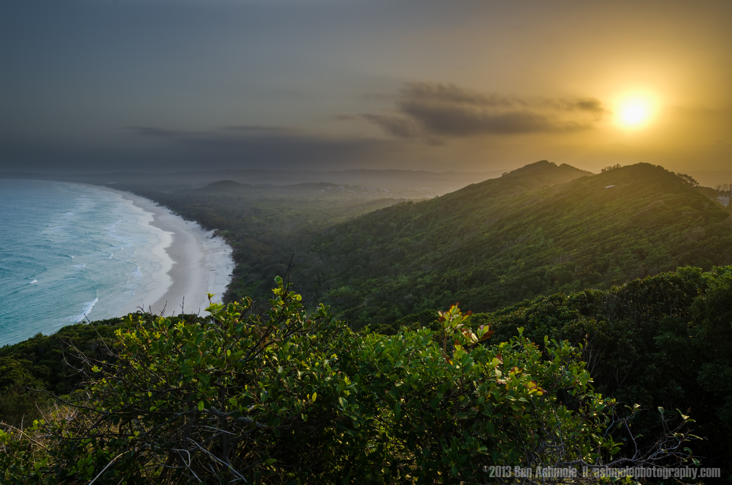 Sunset Over Tallow Beach, Byron Bay, Australia