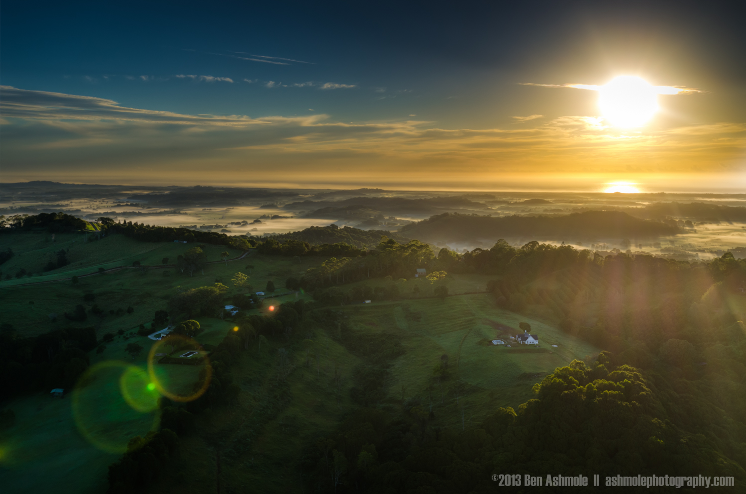 Sunrise From Above, Byron Bay, New South Wales, Australia