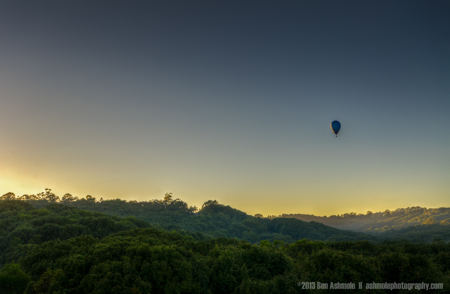 The Golden Balloon Ride, Byron Bay, New South Wales, Australia