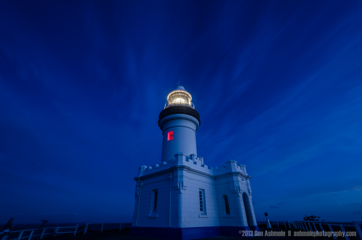 The Lighthouse During Blue Hour, Byron Bay, New South Wales, Aus