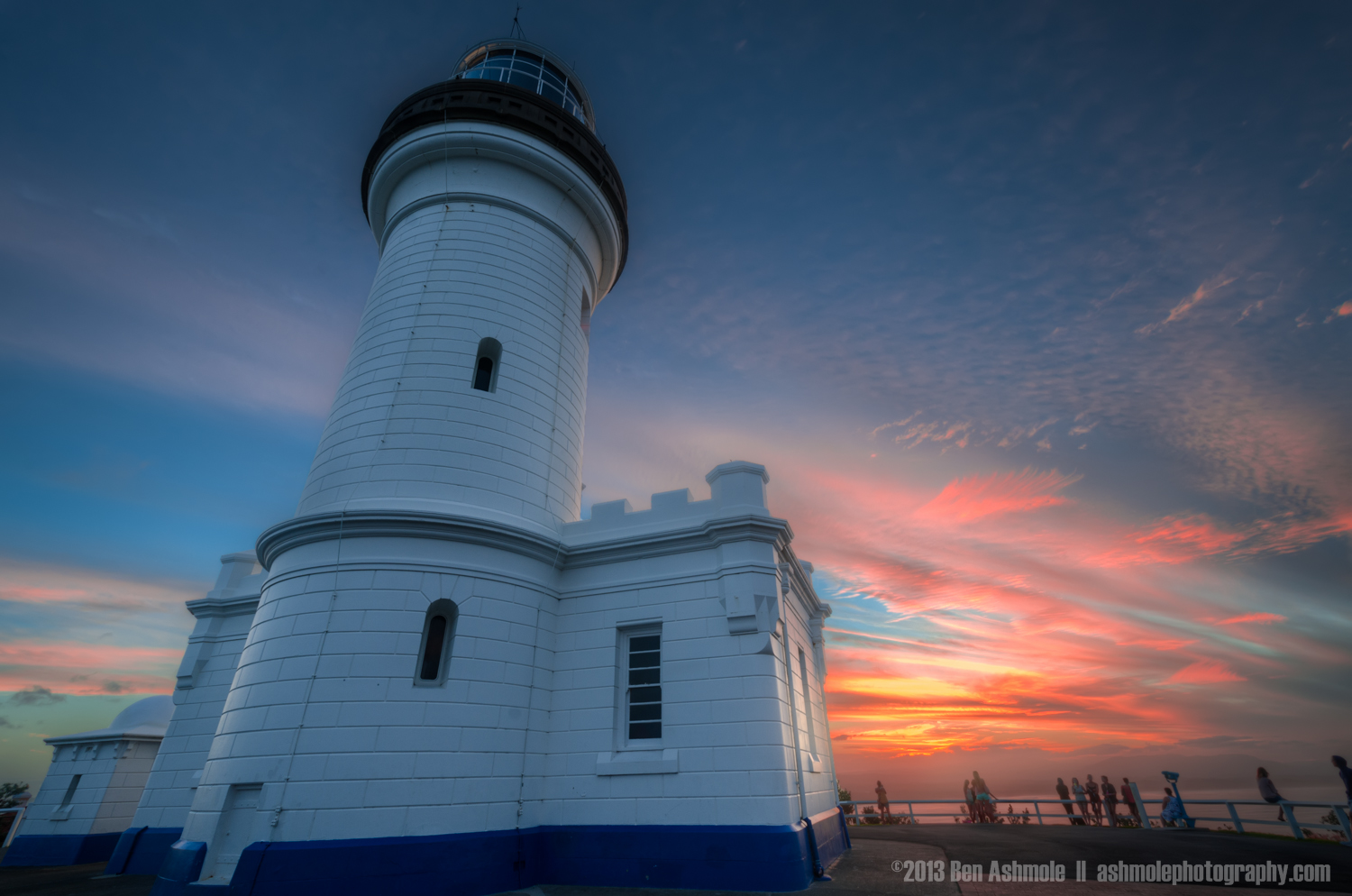 The Lighthouse and a Red Sky, Byron Bay, New South Wales, Austra