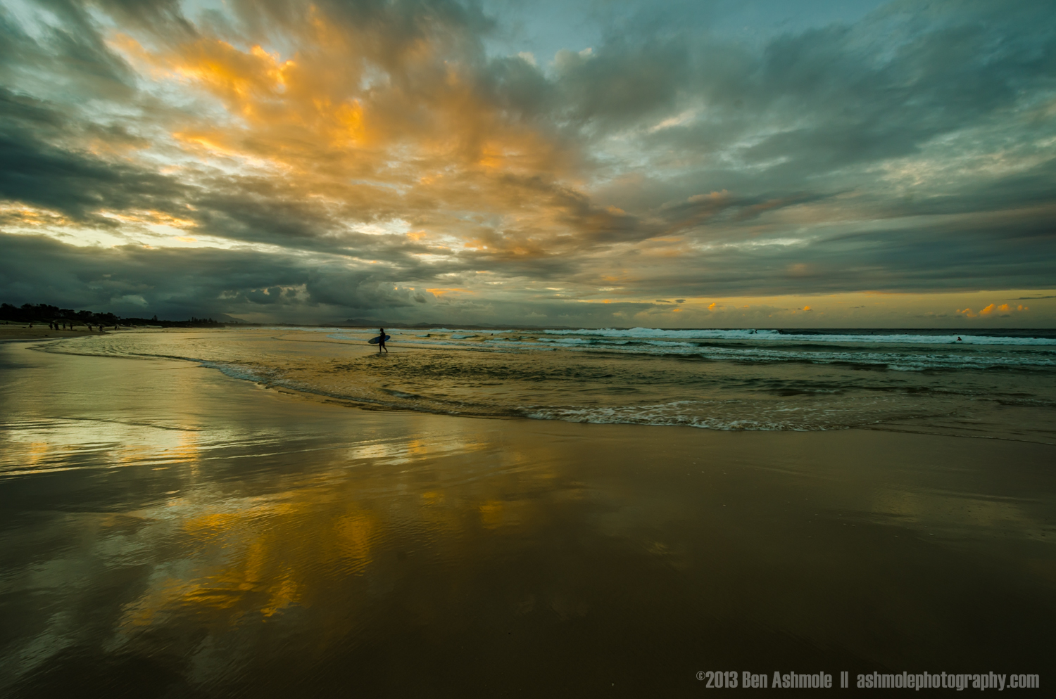 The Lone Surfer, Byron Bay, New South Wales, Australia