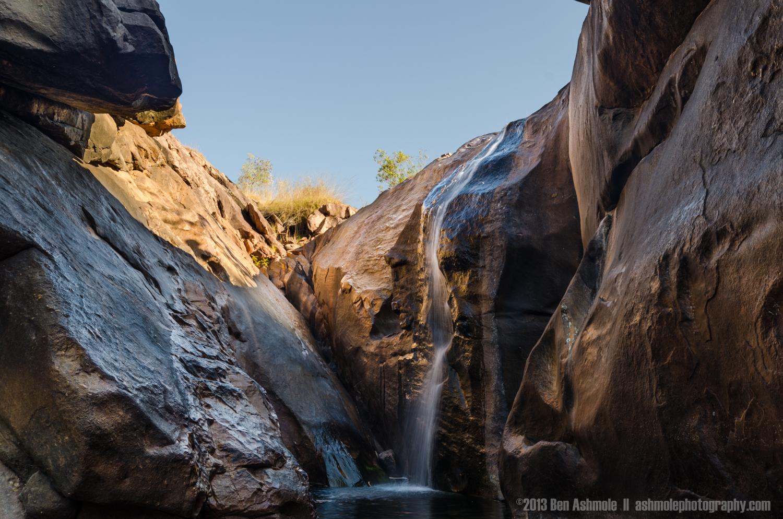 Slot Canyon Waterfall, Gunlom Falls, Kakadu National Park, NT, A