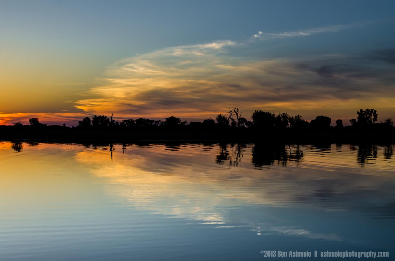 Reflected Sunset 2, Yellow Water Billabong, Kakadu National Park