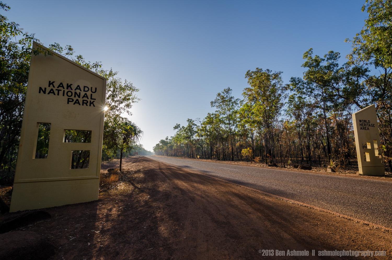Entering Kakadu National Park, NT, Australia