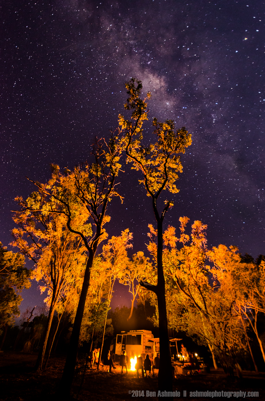 Campfire Under The Milky Way, Kakadu National Park, Northern Ter