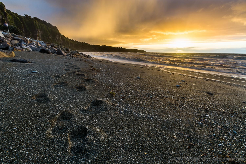 Punakaiki Beach Sunset 3, New Zealand