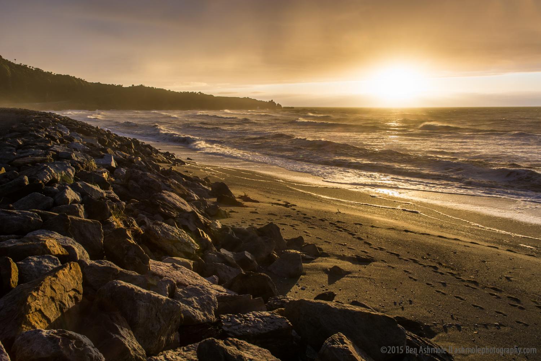 Punakaiki Beach Sunset, New Zealand