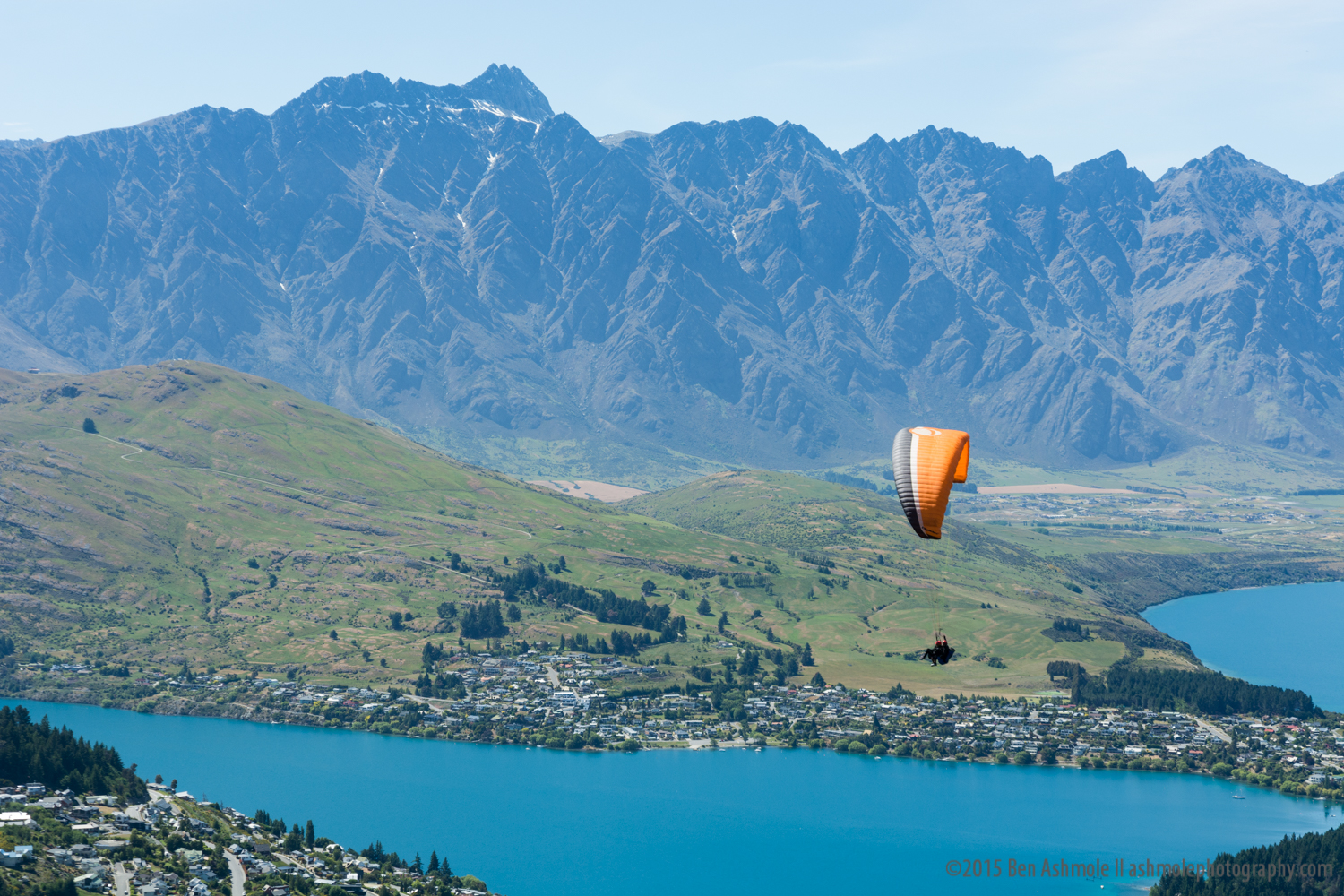 Paragliding Over Queenstown, New Zealand