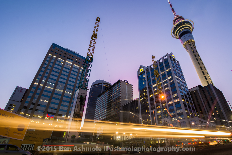 Auckland Street Dusk, New Zealand