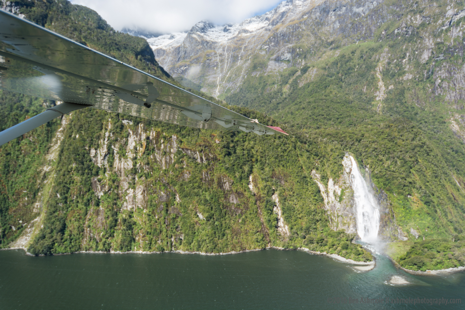 Waterfall Flyby, Milford Sound, New Zealand
