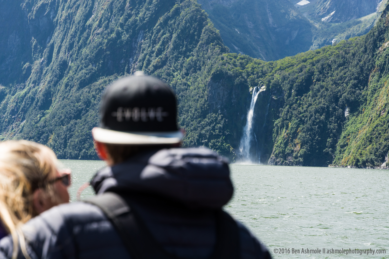 Ocean Waterfall 2, Milford Sound, New Zealand