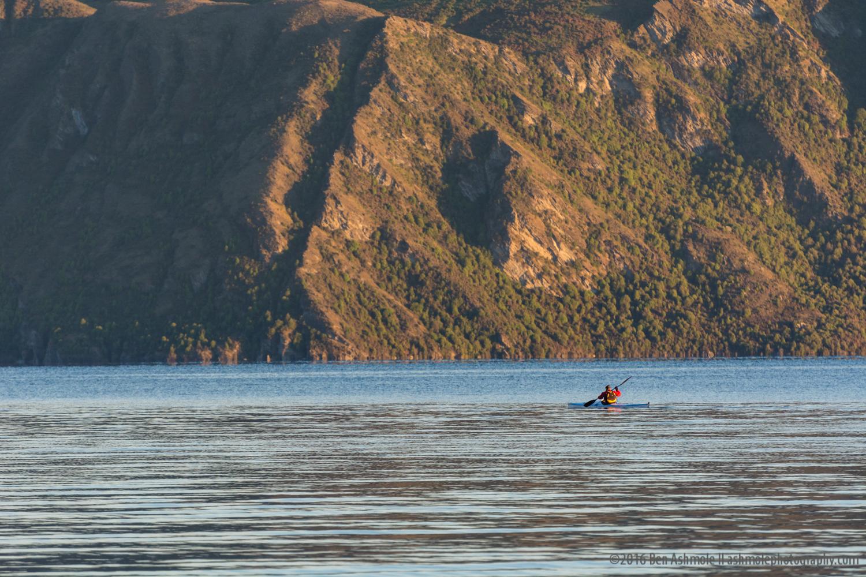 Lone Morning Kayaker, Lake Wanaka, New Zealand