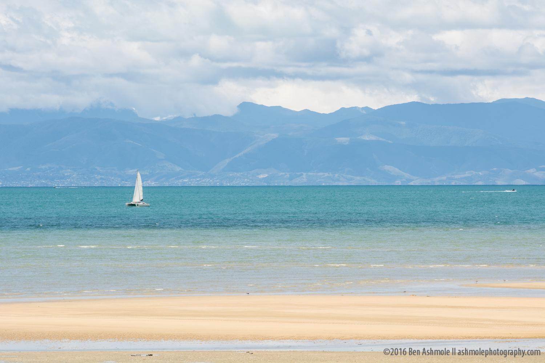 Lonely Yacht, Abel Tasman National Park, New Zealand