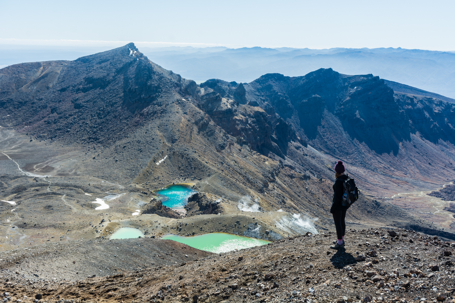 Looking Over The Tongariro Crossing, New Zealand