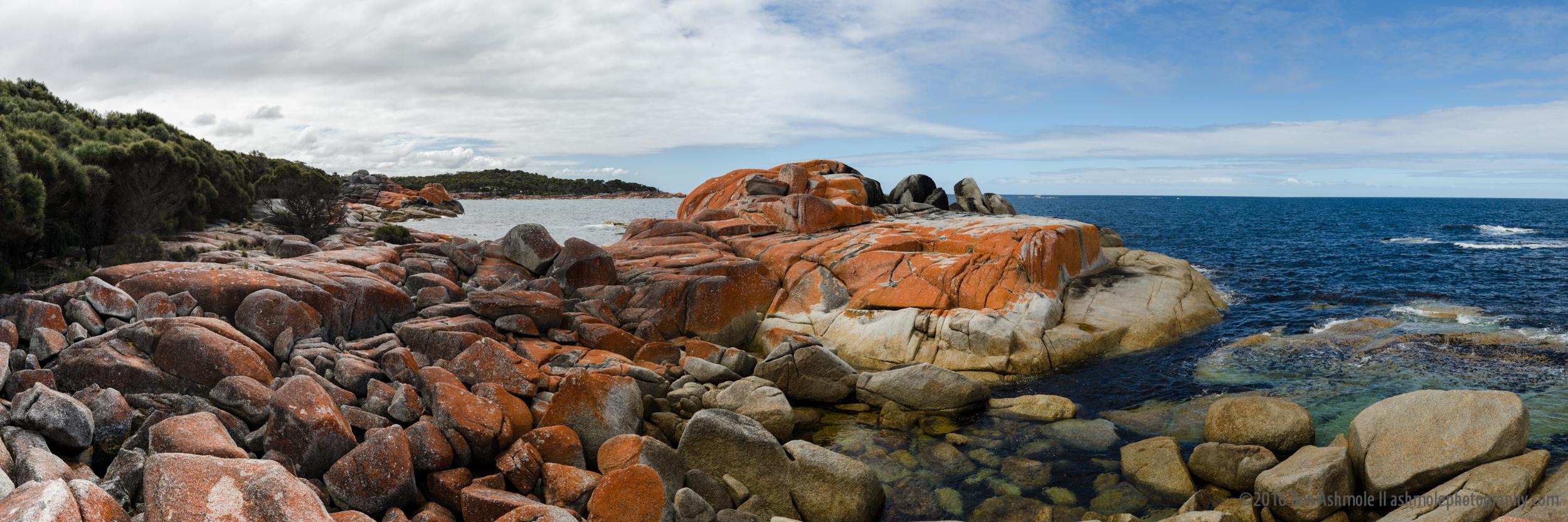 Bay Of Fires Panorama, Tasmania, Australia