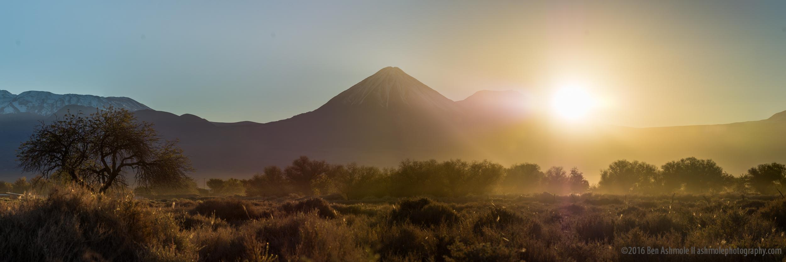 Eclipsing The Volcano, San Pedro De Atacama, Chile
