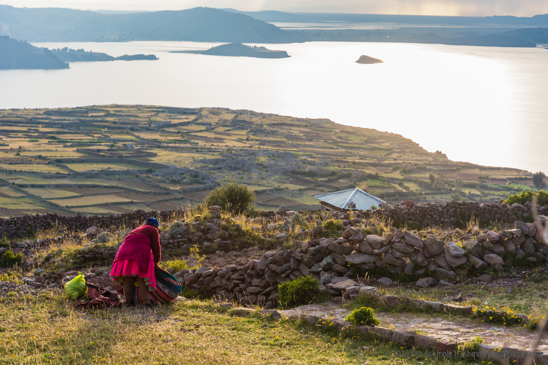 Andean Sunset 2, Amantani Island, Lake Titicaca, Peru