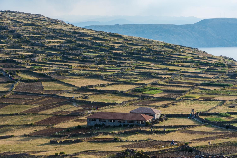 Amantani Island Landscape, Lake Titicaca, Peru
