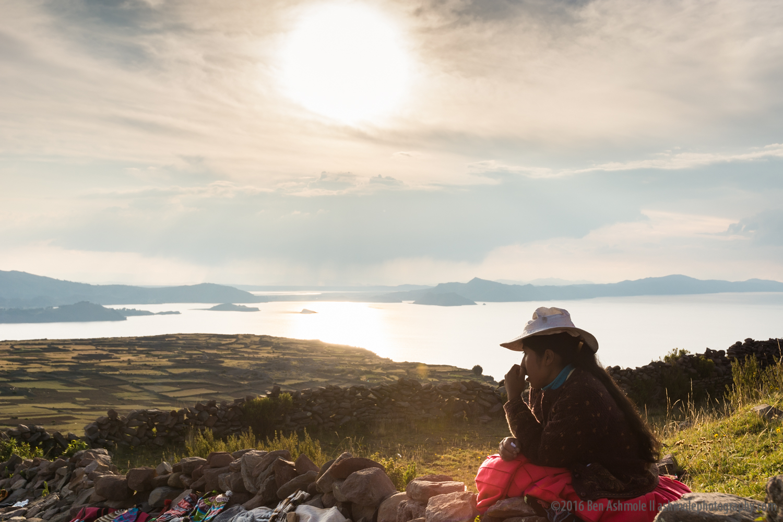 Andean Sunset, Amantani Island, Lake Titicaca, Peru