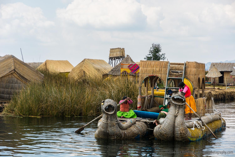 Reed Boat, Uros Islands, Lake Titicaca, Peru