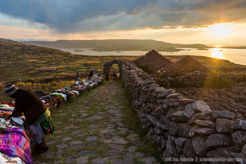 Incan Sunset, Amantaní Island, Lake Titicaca, Peru