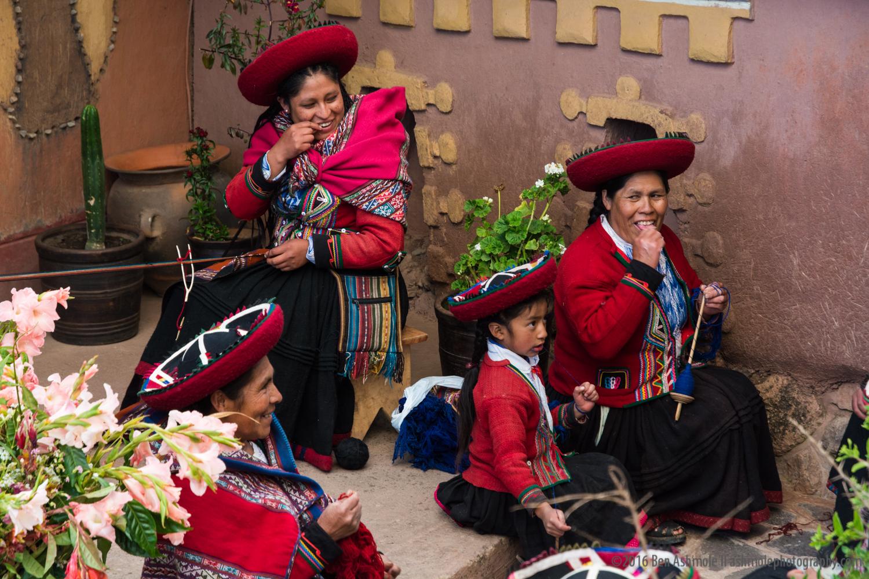 Ladies Weaving, Cusco, Peru