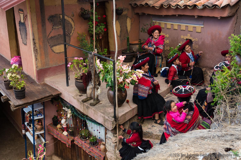 Ladies Weaving 2, Cusco, Peru