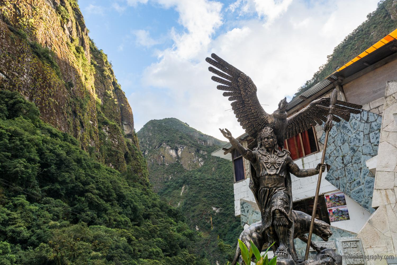 Statue, Aguas Calientes, Peru