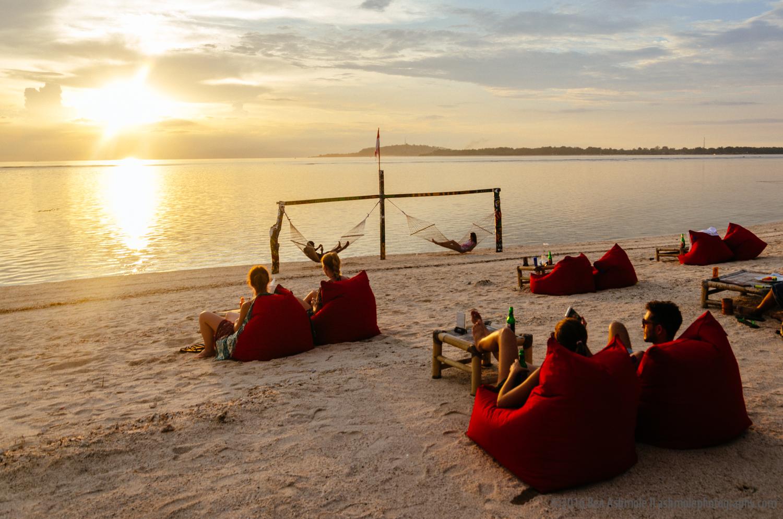 Sunset Bean Bags, Gili Air, Indonesia