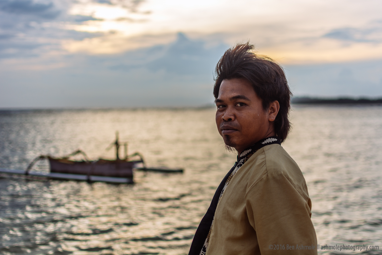 Man And His Boat, Gili Air, Indonesia