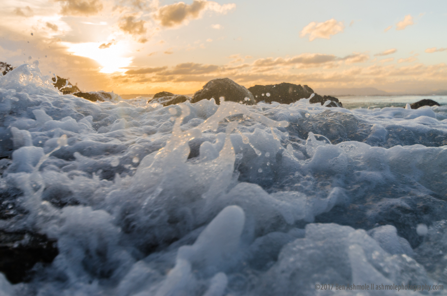 Sea Foam, Wategos Beach, Byron Bay, Australia
