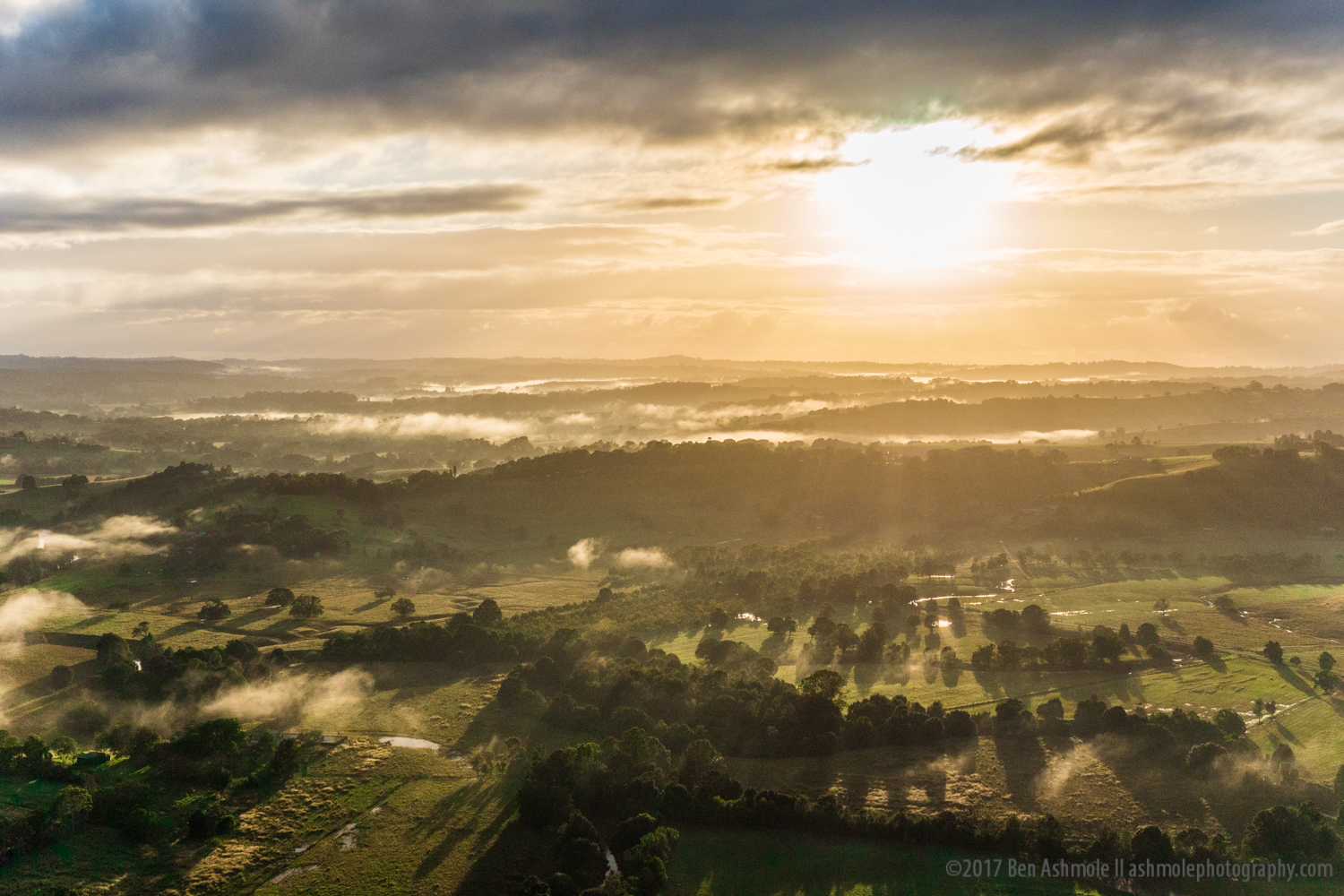 Sunrise From A Hot Air Balloon, Byron Bay, Australia