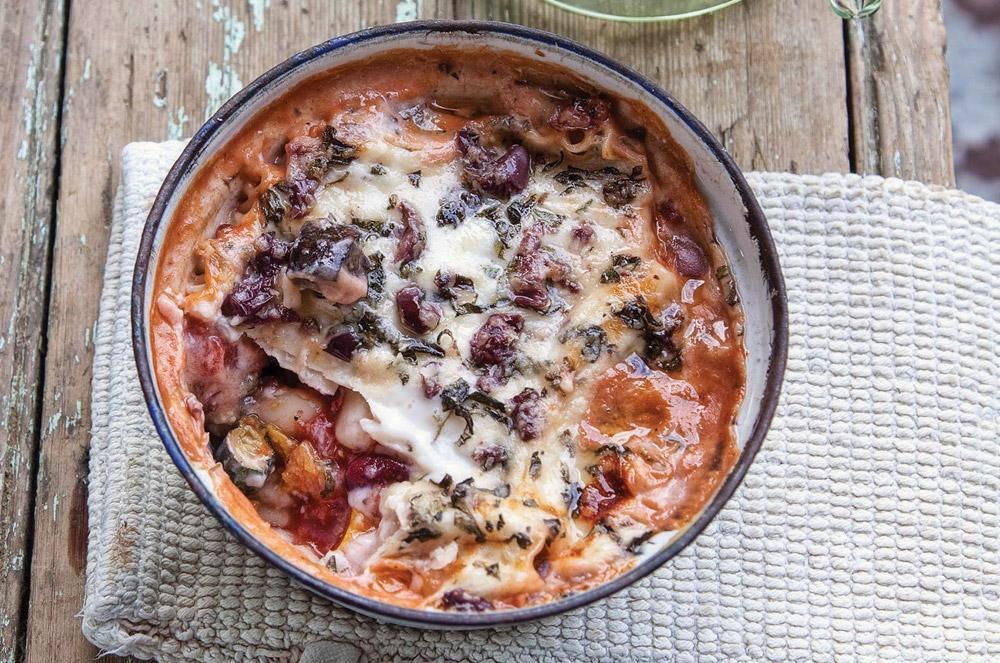 Vegetable and Bean Lasagne